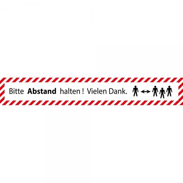 Hinweis Warnhinweis Fußboden-Aufkleber - Bitte Abstand halten v4
