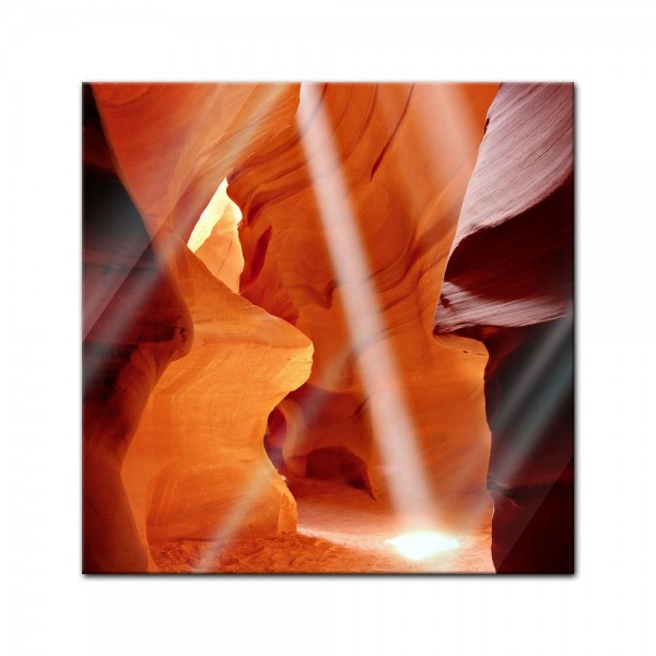 Glasbild - Antelope Canyon I