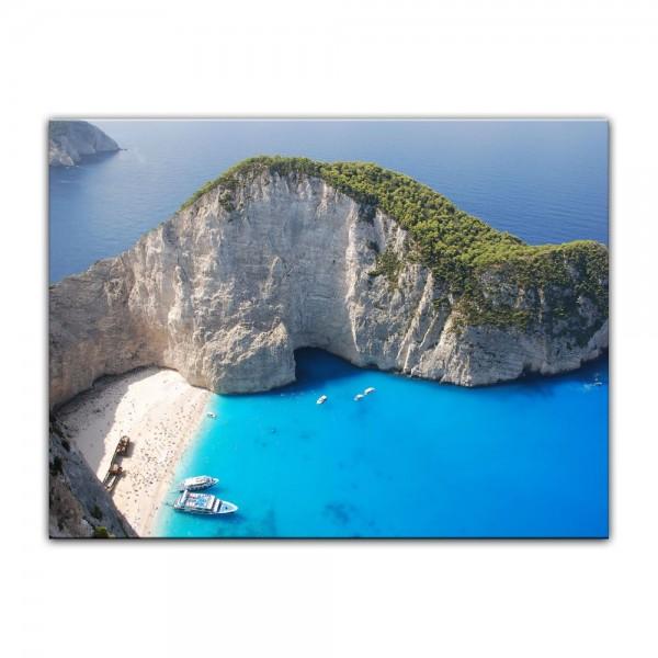 Leinwandbild - Schiffbruch auf Zakynthos - Griechenland