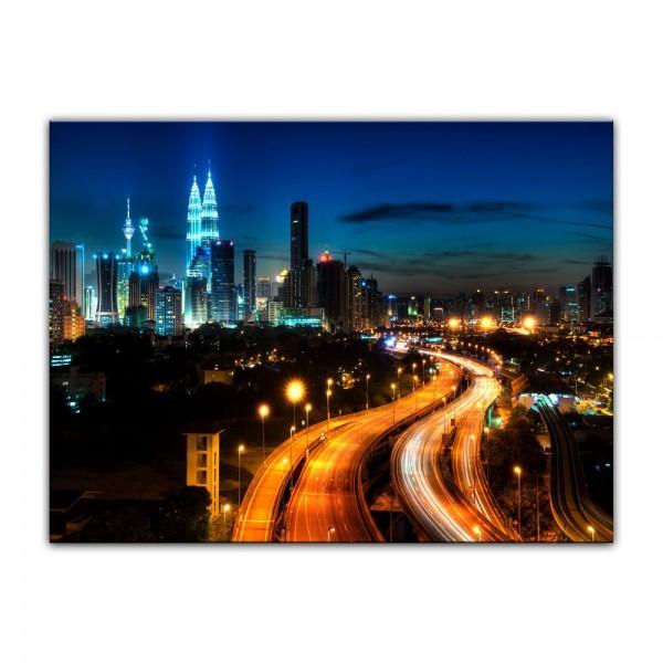 Leinwandbild - Kuala Lumpur bei Nacht