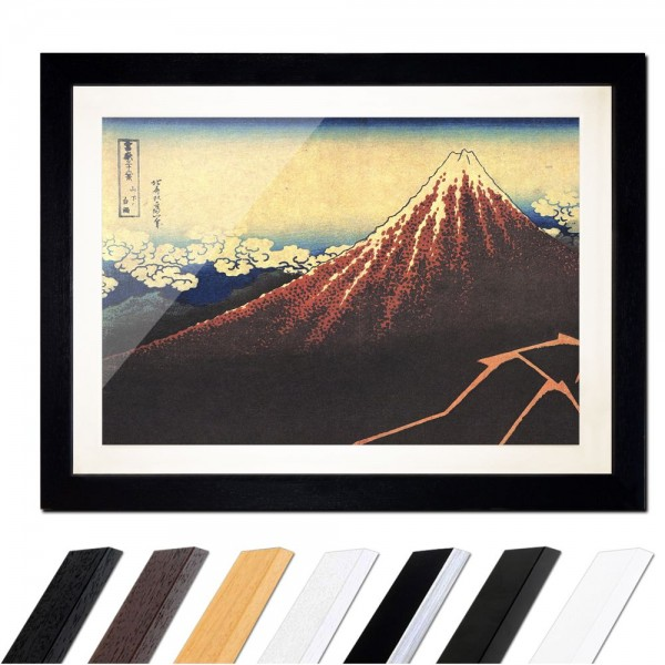 Katsushika Hokusai - Gewitter unterhalb des Gipfels