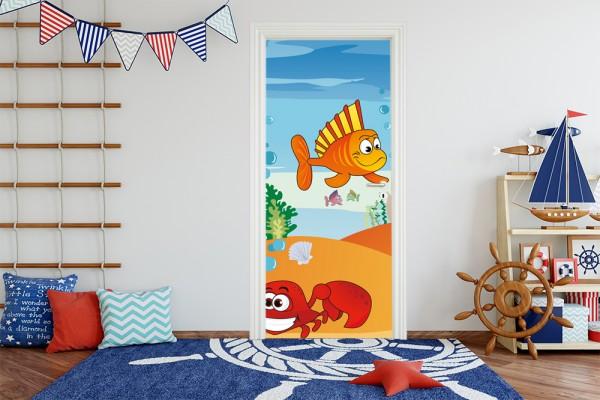 Türaufkleber - Kinderbild Unterwasser Tiere VII