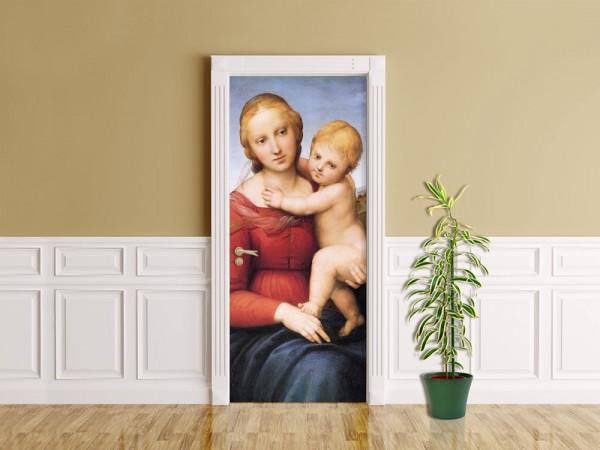 Türaufkleber Raffael - Alte Meister - Madonna mit Kind