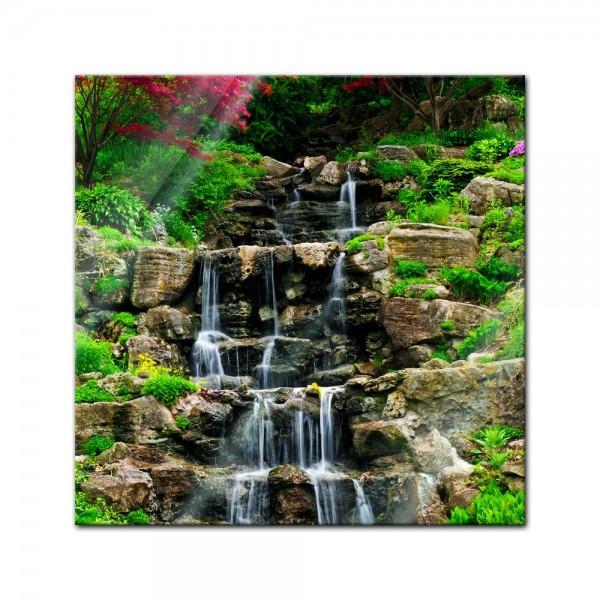 Glasbild - Wasserfall II
