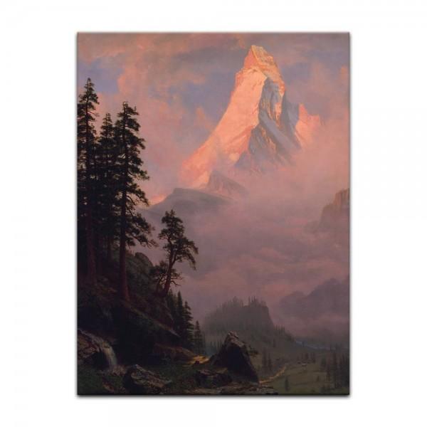 Leinwandbild - Albert Bierstadt - Sunrise on the Matterhorn