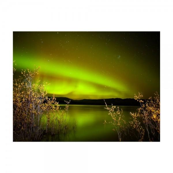 Leinwandbild - Nordlichter II in Yukon - Kanada