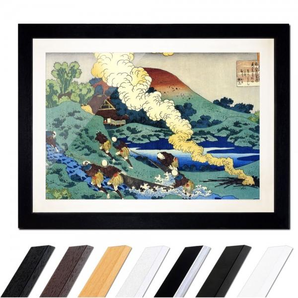 Katsushika Hokusai - Das Gedicht von Kakinomoto no Hitomaro