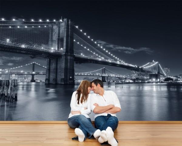 Fototapete Manhattan Brücke New York