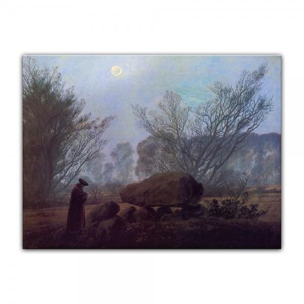 Leinwandbild - Caspar David Friedrich - Spaziergang in der Abenddämmerung