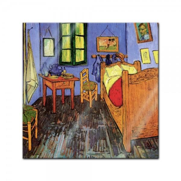 Glasbild Vincent van Gogh - Alte Meister - Vincents Schlafzimmer in Arles
