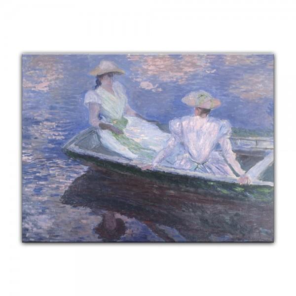 Leinwandbild - Claude Monet - Junge Mädchen in einem Boot