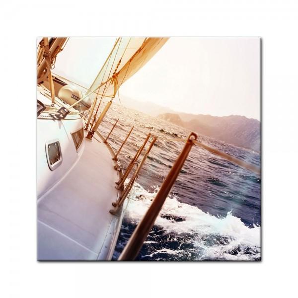 Glasbild - Yacht auf See