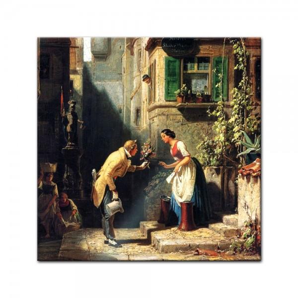 Glasbild Carl Spitzweg - Alte Meister - Der ewige Hochzeiter