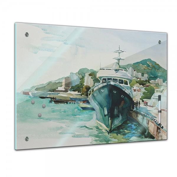 Memoboard - Aquarelle - Jalta Hafen