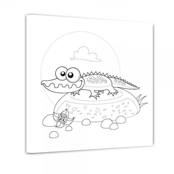 Krokodil - Ausmalbild
