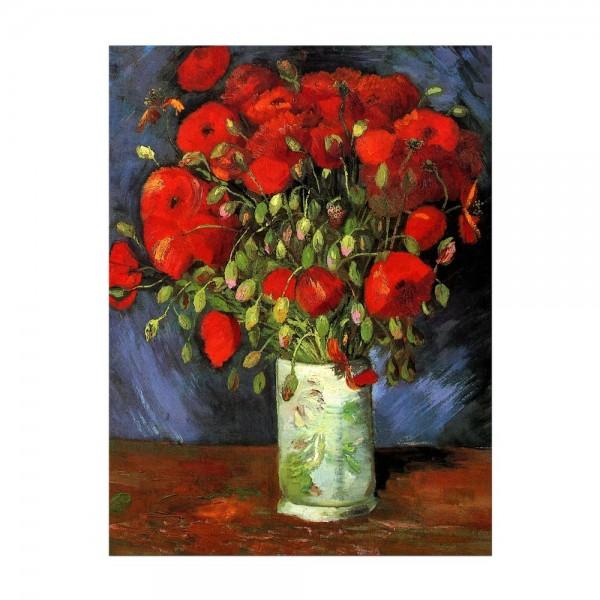 Leinwandbild - Vincent van Gogh - Vase mit roten Mohnblumen