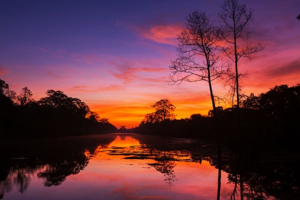 SALE Fototapete Tropischer Sonnenuntergang II - 200 cm x 130 cm - farbig