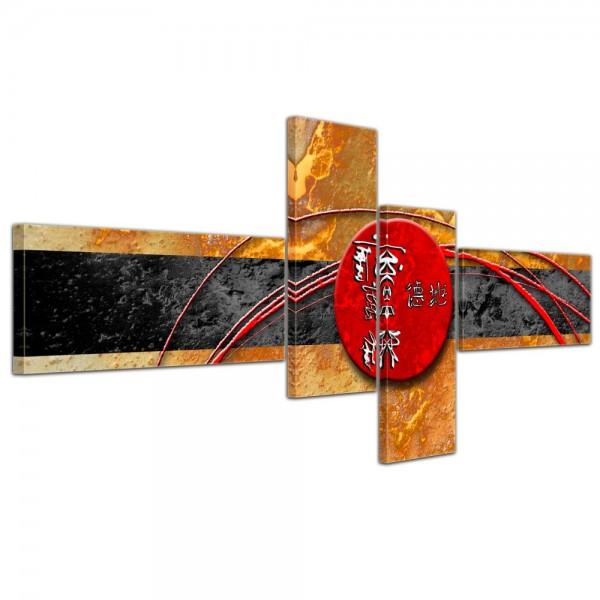 Abstrakte Kunst China - 200x90cm 4 teilig