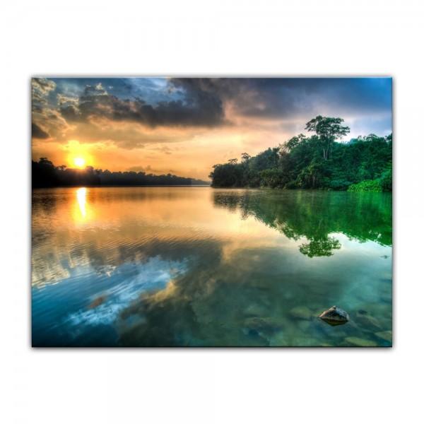 Leinwandbild - Morgenreflektion