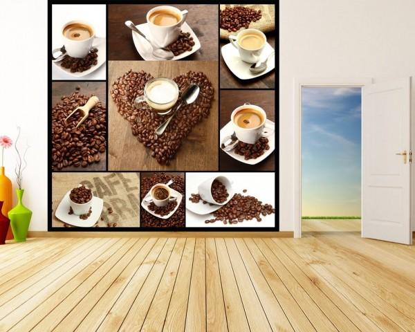 Fototapete Kaffee Collage