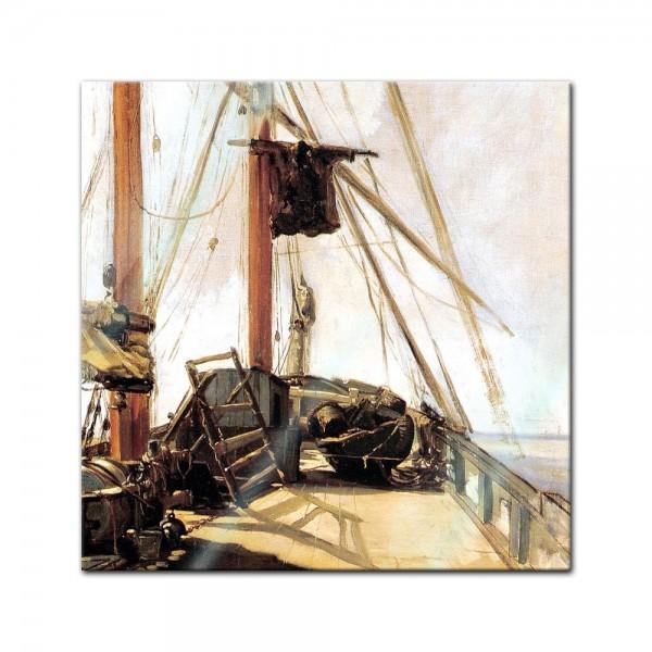 Glasbild Edouard Manet - Alte Meister - Schiffsdeck