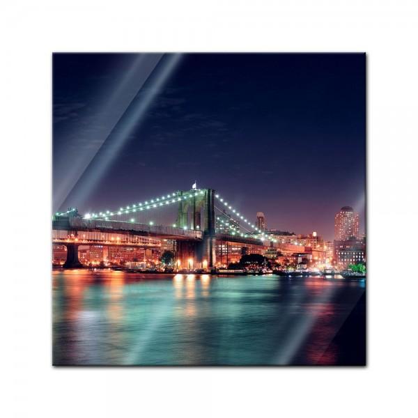 Glasbild - New York Bridge II