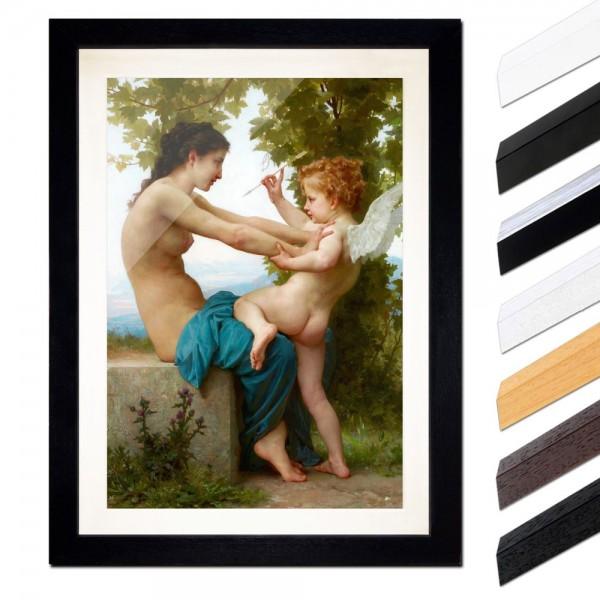 William-Adolphe Bouguereau - Eine junge Frau verteidigt sich vor Eros