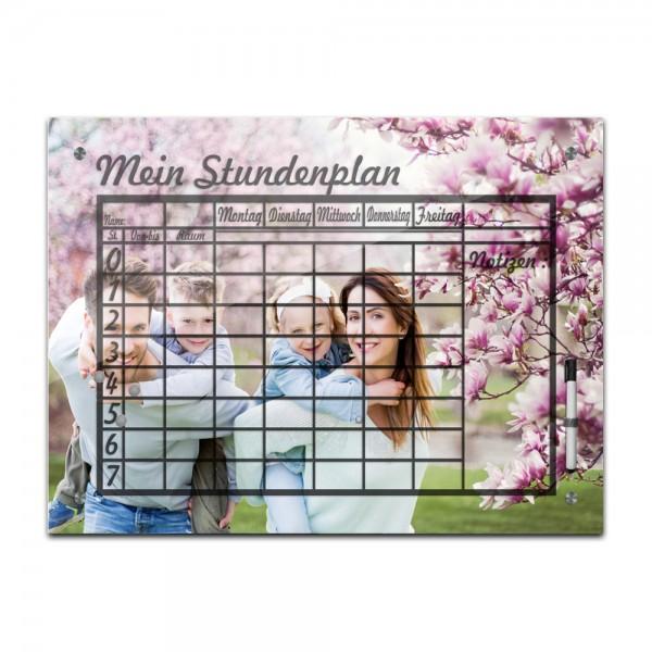 Stundenplan Memoboard - Foto Wunschmotiv in 2 Größen