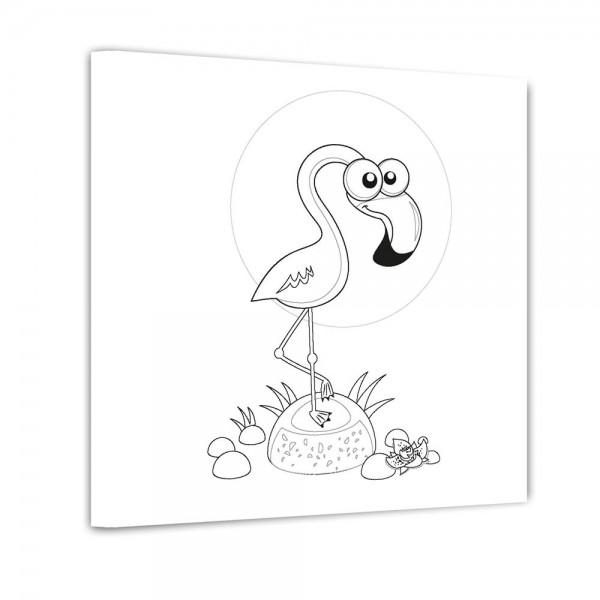 Flamingo - Ausmalbild