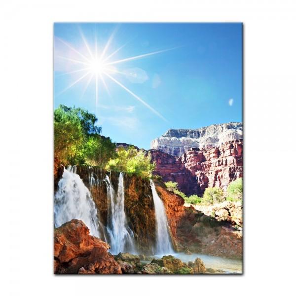 Leinwandbild - Tropischer Wasserfall