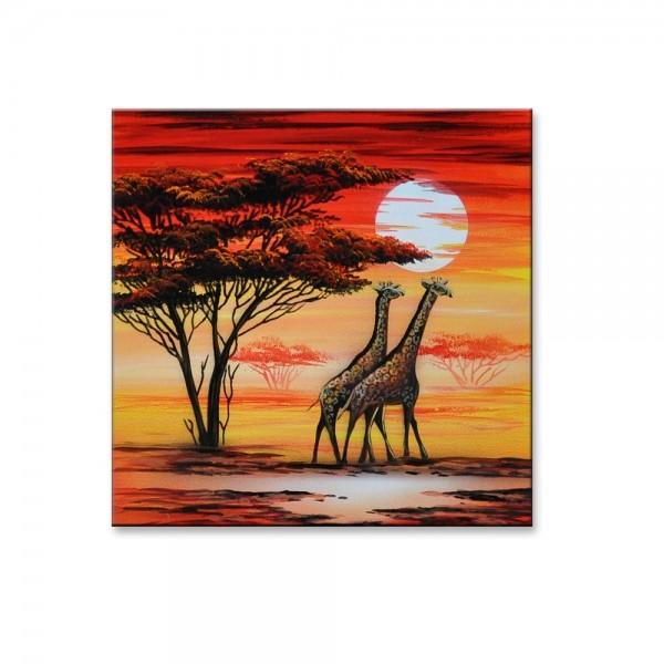 Wandbild - Giraffen M2 Leinwandbild - M23