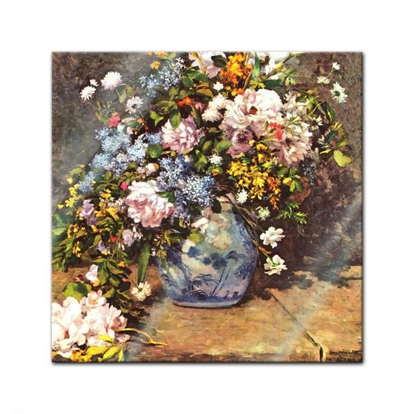 Glasbild Pierre-Auguste Renoir - Alte Meister - Stillleben mit grosser Blumenvase