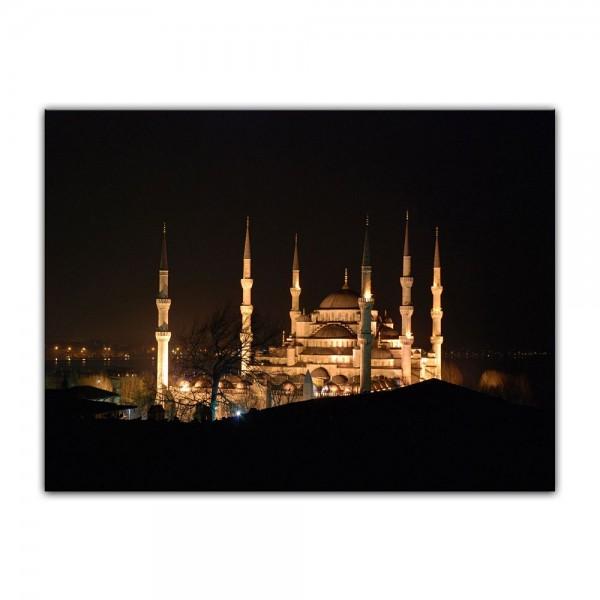 Leinwandbild - Moschee bei Nacht