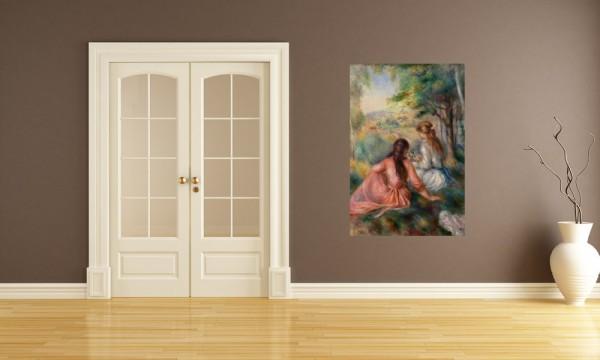 SALE Fototapete Pierre-Auguste Renoir - Alte Meister - Junge Mädchen auf der Wiese - 65 cm x 100 cm