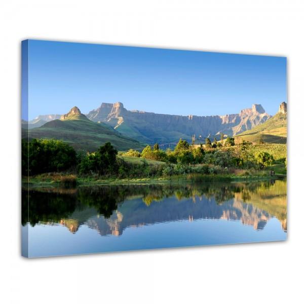 SALE Leinwandbild - Drakensberg Reflektion - 50x40 cm