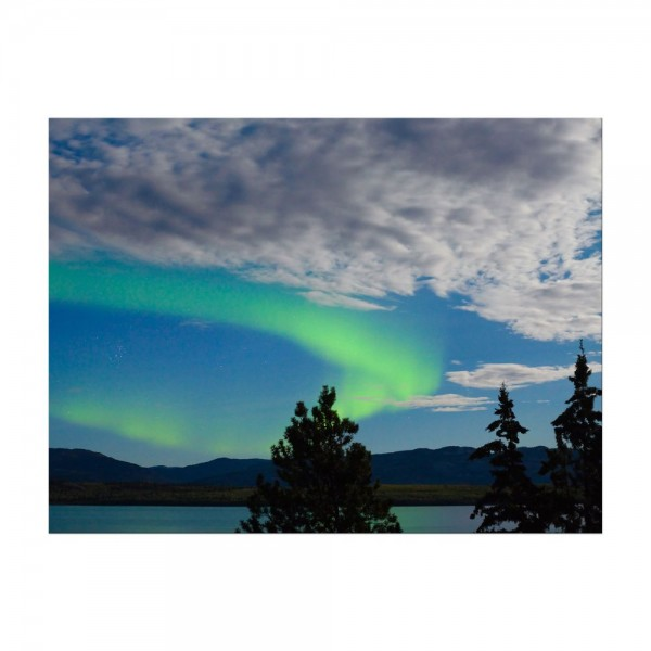 Leinwandbild - Nordlichter in Yukon - Kanada