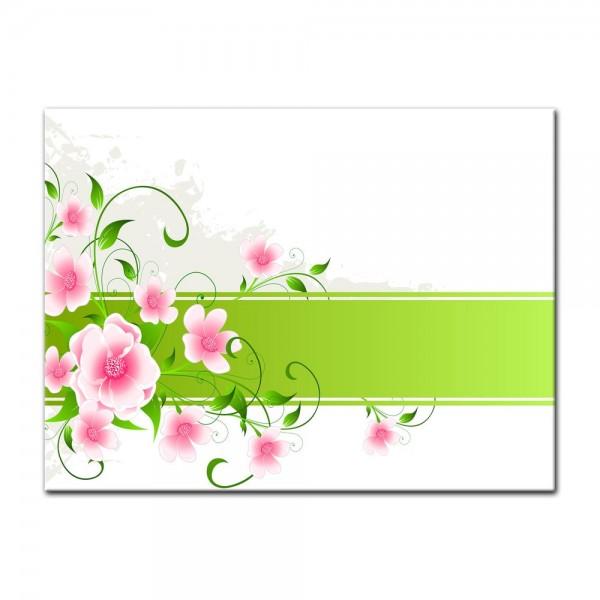 Leinwandbild - Blumen Grunge II