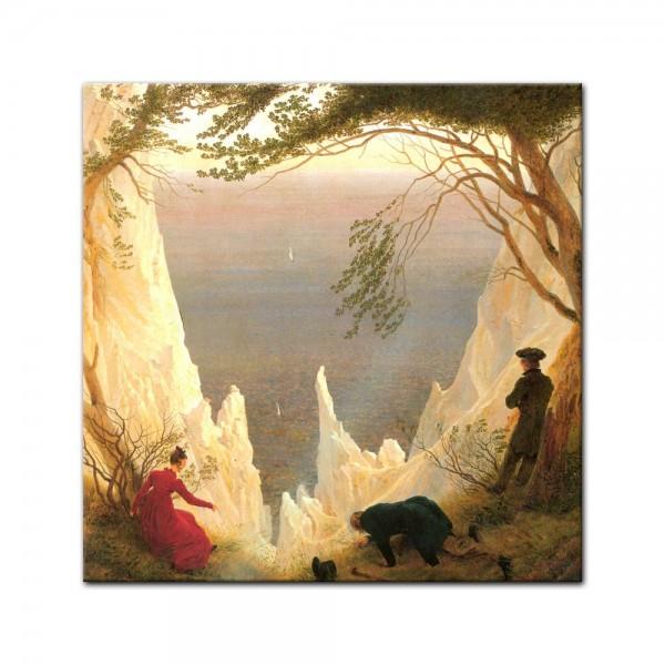 Glasbild Caspar David Friedrich - Alte Meister - Kreidefelsen auf Rügen