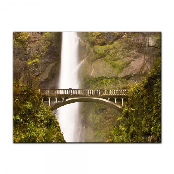 Leinwandbild - Multnomah Falls in Oregon - USA
