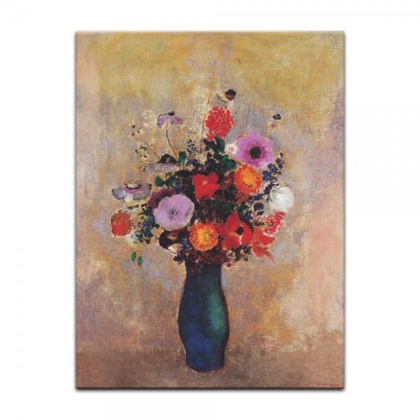 Leinwandbild - Odilon Redon - Wildblumen in grüner Vase