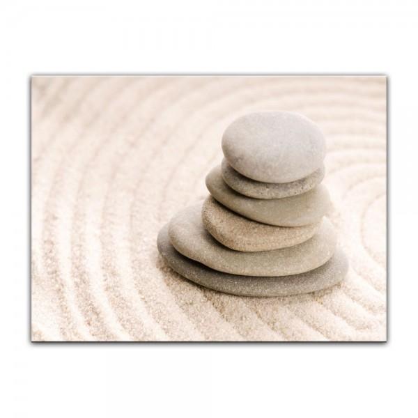 Leinwandbild - Zen Steine VIII