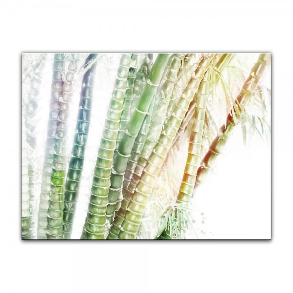 Leinwandbild - Aquarell - Bambuswald