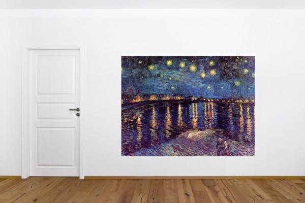 Fototapete Vincent van Gogh - Alte Meister - Sternennacht über der Rhône