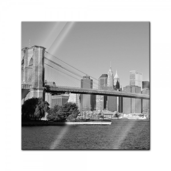 Glasbild - New York Bridge - USA