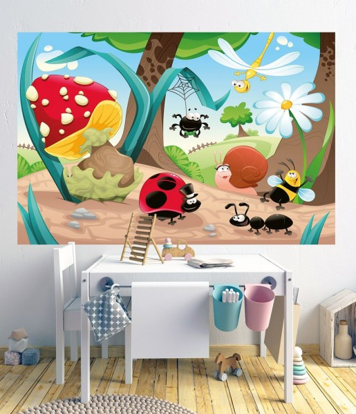 selbstklebende Fototapete - Kinderbild - Krabbeltiere