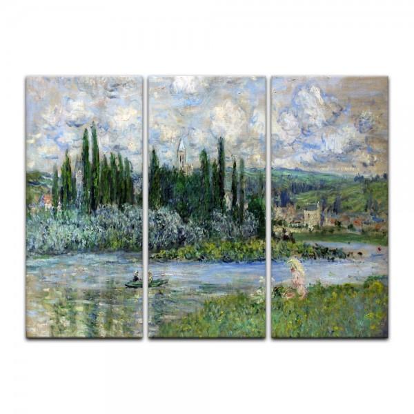 Leinwandbild - Claude Monet - Ansicht von Vétheuil sur Seine