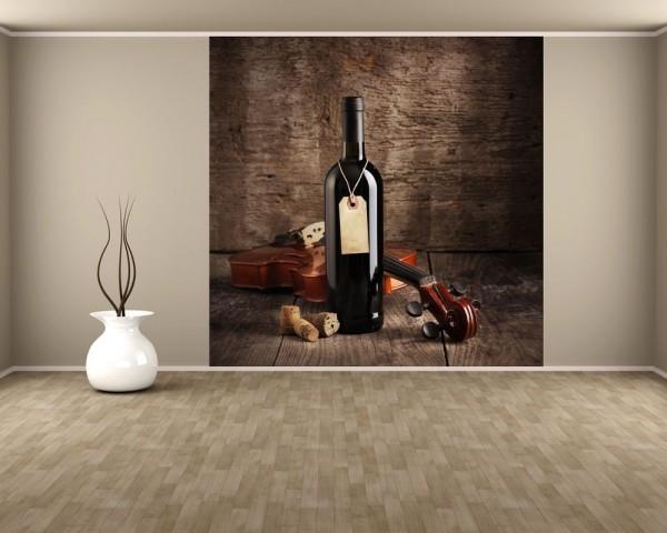Fototapete Wein und Violine