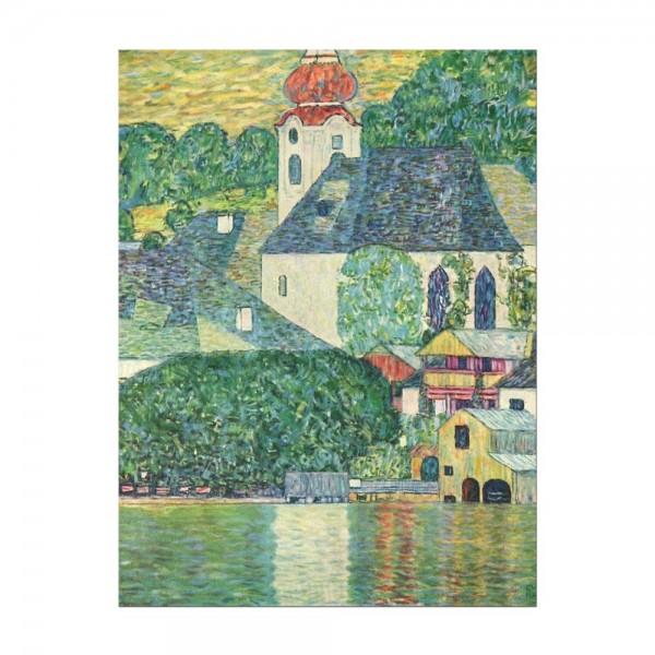 Leinwandbild - Gustav Klimt - Die St. Wolfgang-Kirche