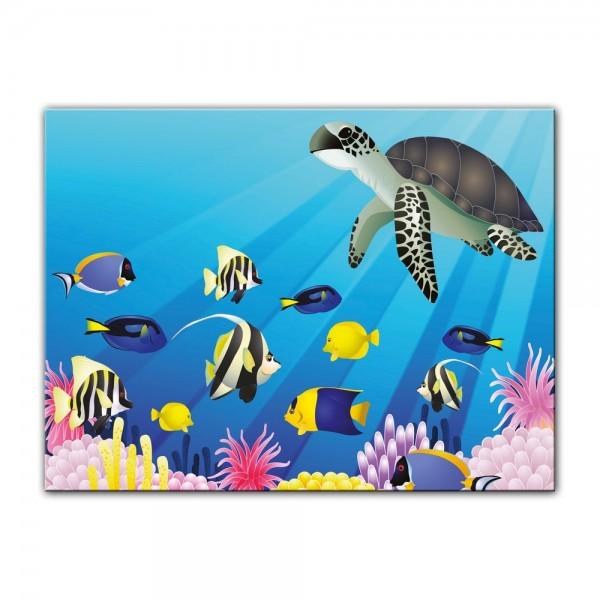 Leinwandbild - Kinderbild - Unterwasser Tiere II