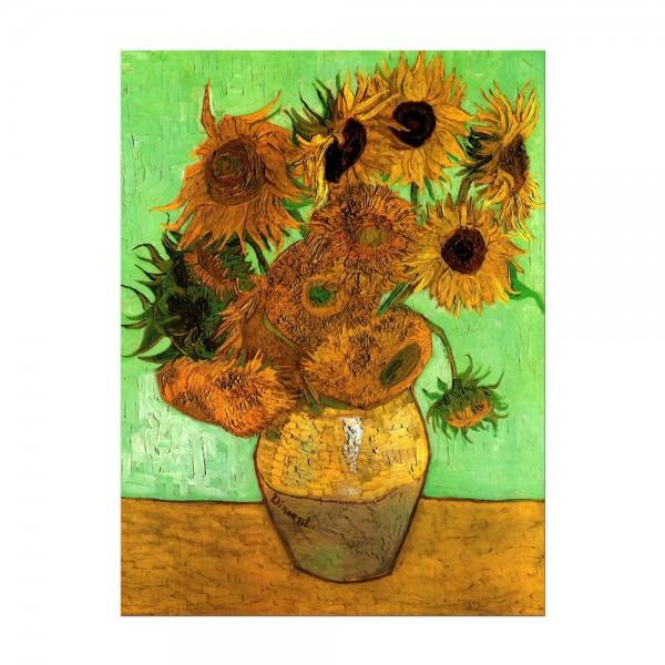 Leinwandbild - Vincent van Gogh - Zwölf Sonnenblumen